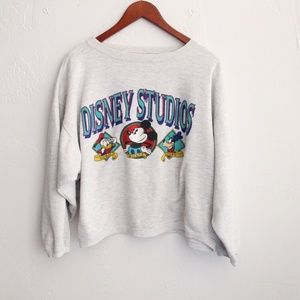 Vintage Cropped Disney Studios Pullover